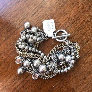 LOFT silver bracelet NWT🖤❤️😍
